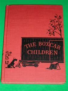 Boxcar Children!! This was the original cover I remember the library having a copy of it