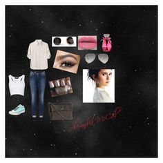 """""""Ride with Derek"""" by babeboo143 ❤ liked on Polyvore featuring Tommy Hilfiger, Kate Spade, Converse, Urban Decay, rag & bone, Jane Norman and Ray-Ban"""