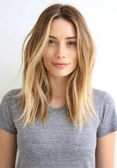 Image result for middle part short layers medium length
