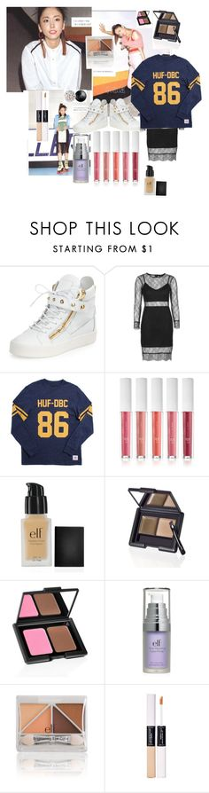 """Untitled #729"" by bricks6897 ❤ liked on Polyvore featuring Giuseppe Zanotti, Topshop, HUF, e.l.f., women's clothing, women's fashion, women, female, woman and misses"