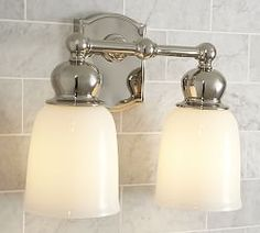 Bathroom Light Fixtures Pottery Barn bathroom lighting, bath lights & bath lighting fixtures | pottery