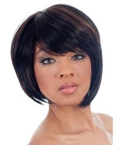 Discount Bob Side Swept Bangs Synthetic Wig