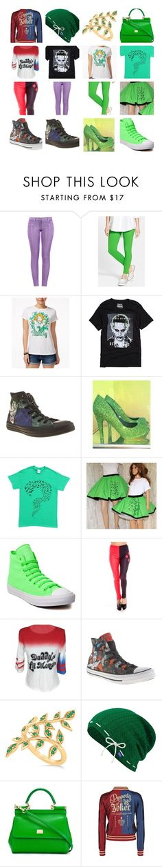 """Villians"" by phoenix-deubelbiss on Polyvore featuring Boutique Moschino, Hue, Bioworld, Converse, COS, Allurez, Keds and Dolce&Gabbana"