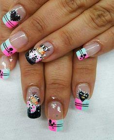 Colorful Nail Designs, Pretty Nail Designs, Nail Art Designs, Spring Nail Art, Spring Nails, Summer Nails, Ruby Nails, Mobile Nails, Butterfly Nail