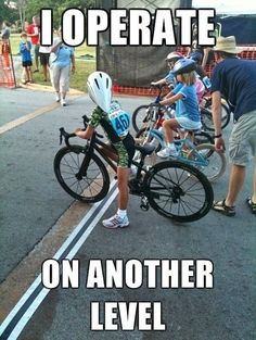Little cyclist is not messing around…