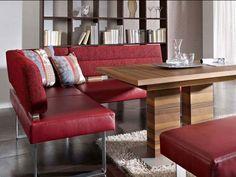 K+W Möbel Divario / 4113 Eckbank Sitzbank Bankelement und Anbauecke für Esszimmer Bank Silaxx Bezug Stoff oder Leder wählbar - Vorschau 2