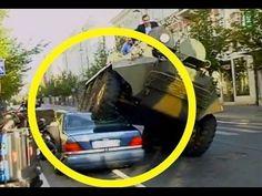 Inilah cara tegas dan nekat sang walikota  di Lithuania Eropa Utara ,untuk membuat jera pemarkir liar, tidak mencabut pentil tapi menggilas dengan panser .Kalau sudah begini apa ada yang masih berani parkir sembarangan ?....