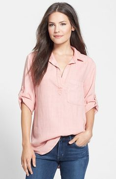 Side Stitch Popover Tunic Shirt | Nordstrom