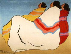 R.C. Gorman : Waiting Desert Women Wool Tapestry