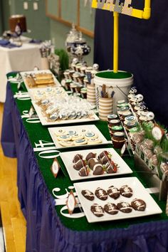 Super Bowl Party Decorating Ideas Lovely Football Table Football Birthday Party Ideas for Boys Super Bowl. Football Banquet, Football Themes, Football Food, Football Parties, Table Football, Football Team, Football Recipes, Football Baby, Super Bowl Party