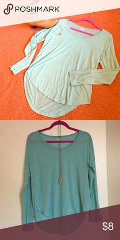 Long sleeve shirt Cute teal-colored long sleeve shirt! Slightly longer in the back. Old Navy Tops Tees - Long Sleeve