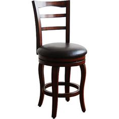 "Better Homes & Gardens Willow Mountain Swivel Counter Stool 24"", Dark Cherry"