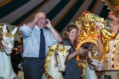 At the Carousel of Possible Dreams coming up Saturday, Aug. 20, supporters of children's charities will be tasked with making fundraising calls while going around for 50 laps on the Eden Palais carousel indoors at the private Sanfilippo Estate in Barrington Hills, Ill. (Submitted photo)