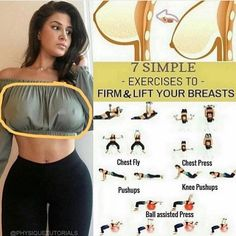 "5,050 Likes, 149 Comments - Health | Tips | Workouts (@fitnessolympiads) on Instagram: ""7 Exercises to lift your breasts! Will you try it? ️Tag a friend who needs to see this!  SAVE…"""