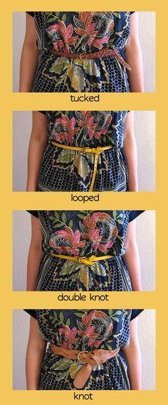 4 maniere de porter sa ceinture Stylisme, Ceintures, Ceinture Femme,  Conseil Mode, f1fbbb7134e