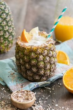 This toasted coconut pineapple cocktail is basically a tropical vacation in a drink.