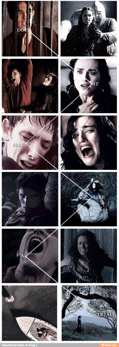 Morgana is sad. I will always feel sad for all the unhappiness everyone has to go through, and I support Merlin wholly, but Morgana... she had it all. She was kind, and beautiful, and comfortable. Then she uncovered the truth in the most painful way possible, and she fell. And she suffered for it.