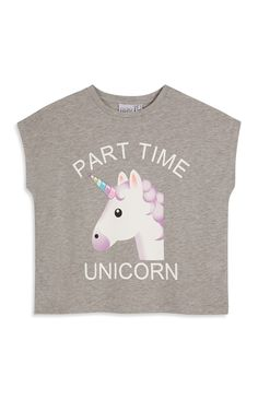 Primark - Grey Unicorn Party Top