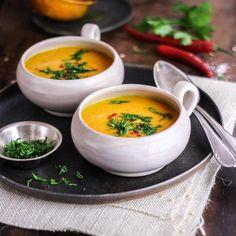 Pikante Kürbis-Süßkartoffel-Suppe (KptnCook)