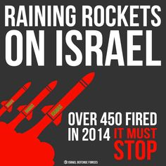 Raining rockets on Israel MUST END. #ItMustStop