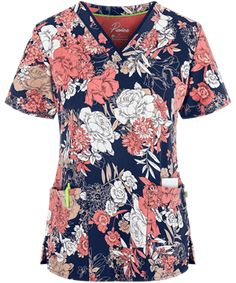 Uniform Advantage has a new selection of floral scrubs! Buy the Healing Hands Premiere Amanda Bella Rose Scrub Top from our site today. Cute Nursing Scrubs, Medical Scrubs, Nurse Scrubs, Uniform Advantage, Scrub Jackets, Hand Scrub, Healing Hands
