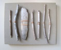 Driftwood Sale- visit shop for coupon code-Driftwood Thrift Fabric Sea Grass assemblage. $25.00, via Etsy.