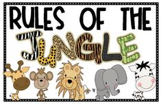 Show off your classroom rules with these cute jungle themed posters.Rules include: take turns, use kind words, share, talk it over, think befor...