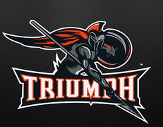 """Triumph"" mascot logo based on a Spartan /Trojan warrior."