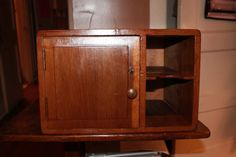 Antique wood desktop organizer with Skeleton Key by 5thandMeridian, $225.00