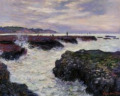 Claude Monet, The Rocks at Pourville, Low Tide, 1882