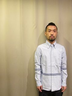 Original Partly Added Stripe B.D.Shirt by ts(s)