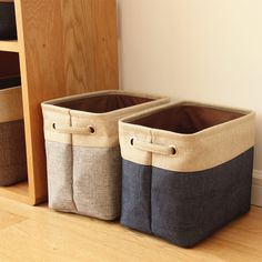 [Visit to Buy] Foldable Linen Cotton Storage Basket Japanese Style Dirty Clothes Storage Laundry Basket Sundries Organizer Toy Home Storage Box Large Storage Baskets, Fabric Storage Bins, Fabric Boxes, Linen Storage, Kids Clothes Storage, Kid Toy Storage, Clothing Storage, Bag Storage, Sock Storage