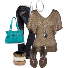 All natural, created by kaymeans06 on Polyvore