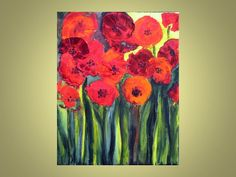 This small bright painting of Red Poppies is adorable and will make a gorgeous gift!  You could simply display it on a mantel or hang on a wall.