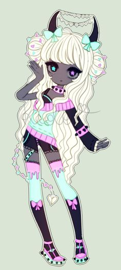Pastel goth demon- Auction-closed by kioler