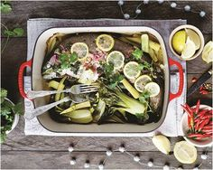 Fish en Papillote Steamed with Mediterranean Vegetables - a beautiful fish recipe to impress your family and friends during the festive season