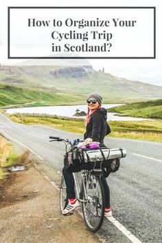 Travel Routes for cycling in Scottish Highlands. Isle of Skye.
