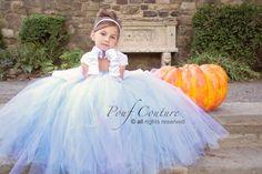 un costume di carnevale troppo carino!! Cinderella  Costume Tutu Dress by PoufCouture on Etsy, $114.95
