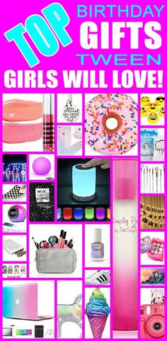 Top birthday gifts tween girls will love! The ultimate gift guide for tween girls birthdays. From cheap to expensive birthday gifts tween and teen girls will love.
