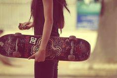 Skate Bords, Skates, Moda Skate, Style Skate, Looks Style, My Style, Girl Style, Skate Girl, Skateboard Girl