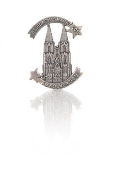 Kölner Dom Pin aus Silber Dom, Bookends, Tower, Silver, Weihnachten, Gifts, Lathe, Book Holders