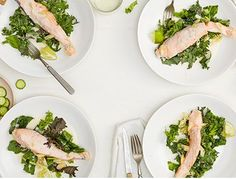 // COCONUT POACHED SALMON