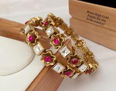 Gold Bangle Bracelet, Gold Bangles, Plating, Brass, Ship, India, Free, Jewelry, Jewellery Making