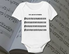 baby onesie with piano music