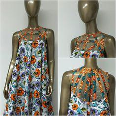 African Luxury Print Flare Hi-Lo Dress. Woven by NanayahStudio