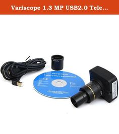 Variscope 1.3 MP USB2.0 Telescope Digital Camera and Software, Compatible with Windows XP/Vista/8 and Mac OS 10.6 & Up. This Telescope digital camera features upgraded electronics, streamlined software, and a compact design with smaller dimensions and reduced weight. Our company is located in the USA and all cameras come with a 1-YEAR WARRANTY! Featuring a 1.25 Inch reduction lens adapter, our camera can be attached to any telescope with a 1.25 Inch ocular. The camera's optics offers...