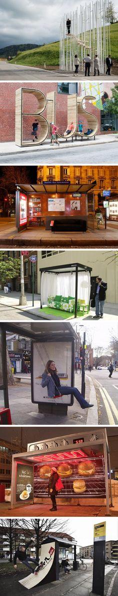 Birbirinden İlginç ve Yaratıcı Otobüs Durakları www.4finite.com