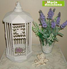 gaiola decorativa feita com embalagem de bombom e palitos de churrasco