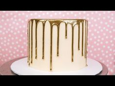 Chocolate Drip Cake, Chocolate Gold, Gold Dripping Cake, Chocolate Dorado, Drip Cake Tutorial, 50th Cake, Gold Cake, Just Cakes, Colorful Cakes