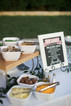 Wedding Food | Mac & Cheese Bar | Food Bar | Macaroni and Cheese | Chalk Sign | Whole Foods Market | Caroline Joy Photography | Premiere Party Central | Allan House | Austin Weddings | Pearl Events Austin